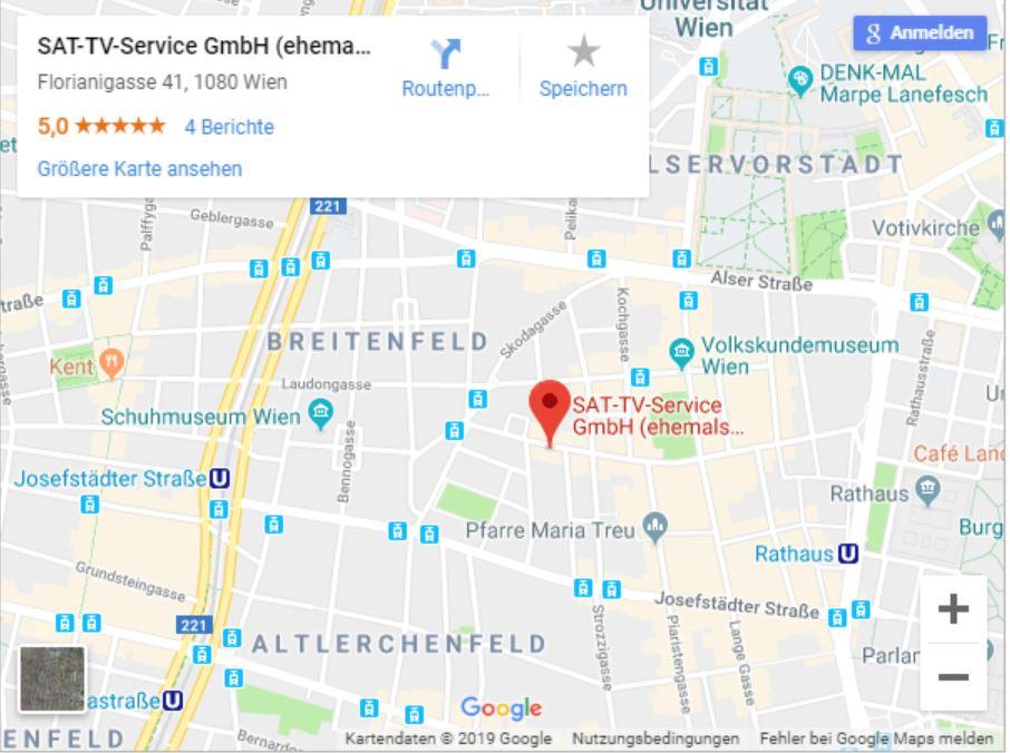 So finden Sie uns! - Google Maps